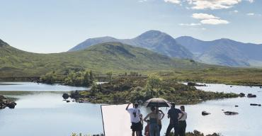 On Set in the Highlands for Chloe