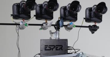 ESPER TriggerBox attached to 4 cameras