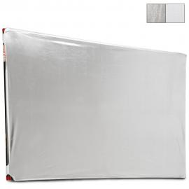 "39x72"" LitePanel Fabric White/Silver"