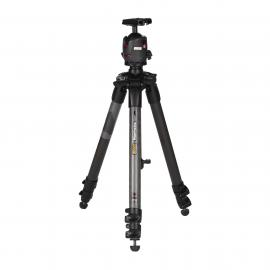 Manfrotto Tripod 057 Carbon Fibre 3 Section Geared (1.57m)